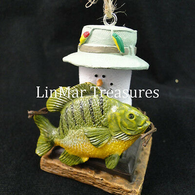S'mores Ornament with Fish Midwest CBK Fisherman Ornament