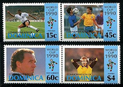 DOMINICA Sc.# 1281-84 Football 1990 Stamps
