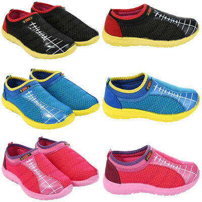 Girls Boys Trainers Shoes Children Kids Slip On Sports Shoes Footwear