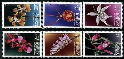 DOMINICA Sc.# 1953-58 Orchids Stamps