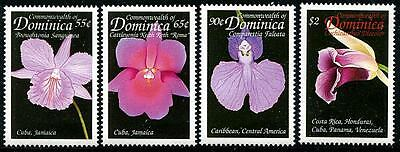 DOMINICA Sc.# 2121-24 Orchids Stamps