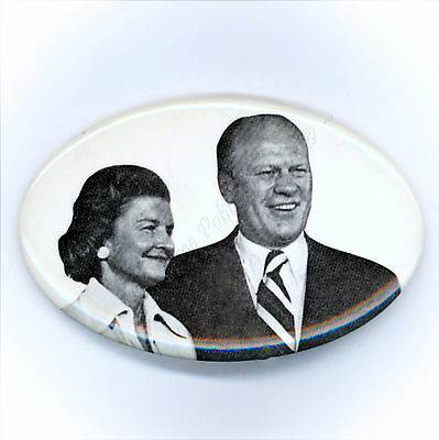 "* Superb  ~  "" GERALD  &  BETTY  FORD "" ~ 1976 Campaign Button"