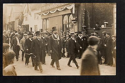 Middlewich - Procession in  Wheelock Street - real photographic  postcard