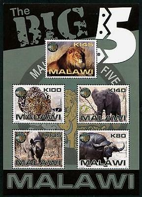 MALAWI Sc.# 764a Big Five Animals 2011 Stamp S/S
