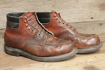 Red Wing Vintage 70's Mens Leather Moc-Toe Chukka Work Boots sz 11EE