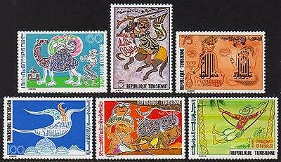 TUNISIA Sc.# 726-31 Designs Stamps