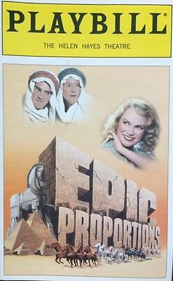 EPIC PROPORTIONS Playbill OPENING NIGHT Kristin Chenoweth [Kristen Chenowith]