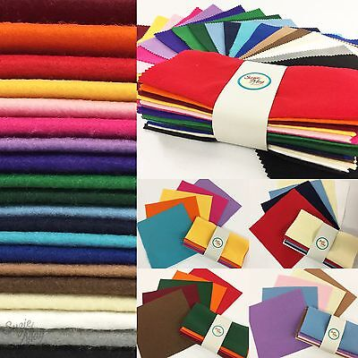 Felt Fabric Bundles Craft Squares Pack Acrylic Sewing 20cm x 20cm 10 - 20 Pack