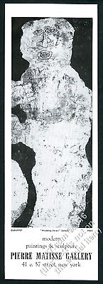 1959 Jean Dubuffet Wedding Vows art NYC gallery vintage print ad