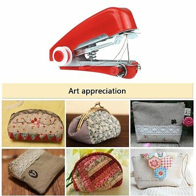Handy Cordless Repair Singer Portable Stitch Sew Hand Held Sewing Machine Red