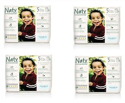 NATY SIZE 5 NAPPY TRAINING  PANTS 4 Packs of 20 (80 PULL UP  ) 12-18 KG