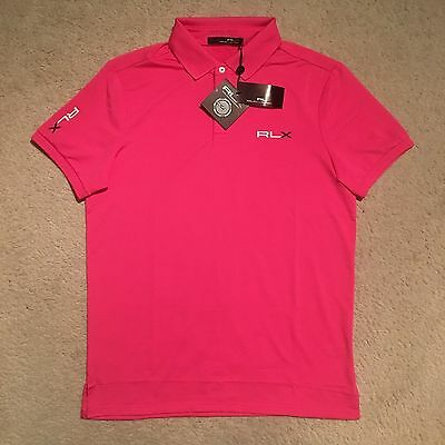 RLX Ralph Lauren Solid Pro-Fit Polo Shirt - Madison Pink Size S-XXL RRP: €99.00