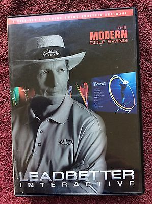 DVD (x5) LEADBETTER interactive the modern golf swing 2007 teaching program