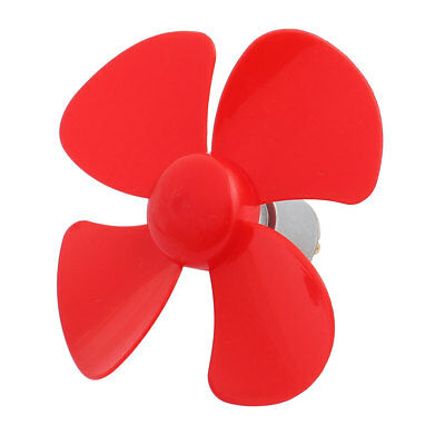 DC 3V 0.36A 17500RPM Large Torque Motor 4 Vanes 100mm Dia RC Propeller Red