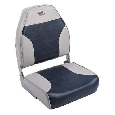 8WD258PLS900 Deluxe High-Back Wise Premium Fishing Seat Grey//Navy