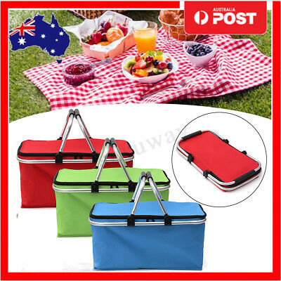 Thermo Insulated Basket Foldable Carry Bag Folding Aluminium Frame Collapsible