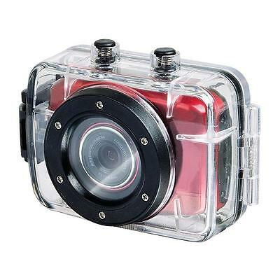 "Trevi Go 2200 Hd Extreme Sports Action Camera Red 720P 1.3Mp 2"" Touchscreen"