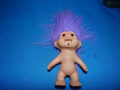 Vintage TNT Troll with Purple Hair From 1991