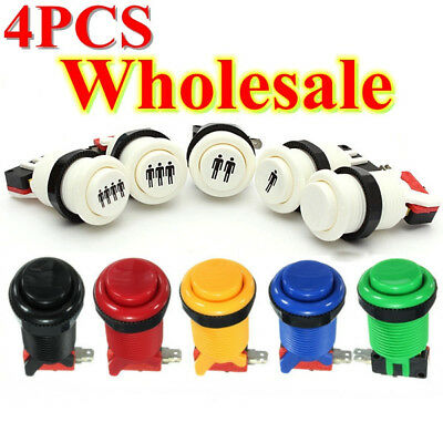 Mini MultColor Arcade Push Buttons Durable Multicade Jamma MAME Game Long Switch