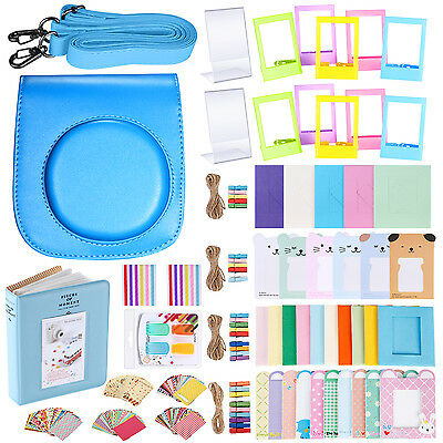 Neewer 56-in-1 Kit per Fujifilm Instax Mini 70: Custodia Adesivi Filtri Colorati