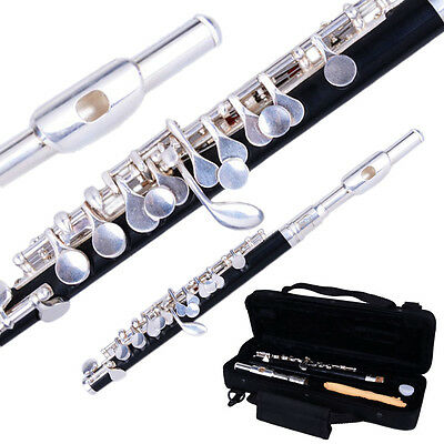 New Silver High Quality Cupronickel C Piccolo with Case Cloth Lubricant