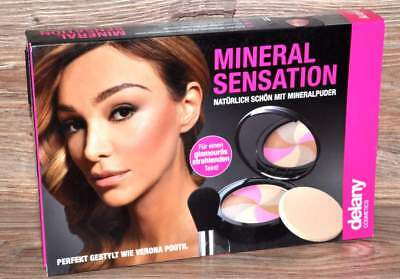 COSMETICS MINERAL SENSATION von DELANY MINERALPUDER PINSEL MAKE UP PUDER NEU *