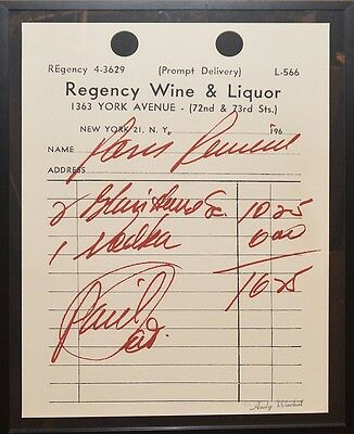 Andy Warhol, Paris Review, Stamped Signature/Numbered, Color Screenprint