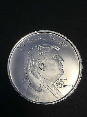 1 oz 999 Silber Silbermedaille Donald Trump 45ter Präsident White House