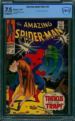 Amazing Spider-Man # 54  The Tentacles and the Trap !  CBCS 7.5  scarce book !