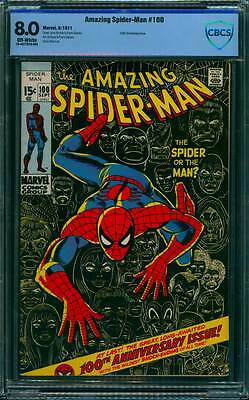 Amazing Spider-Man # 100  Classic Anniversary Issue !  CBCS 8.0  scarce book !