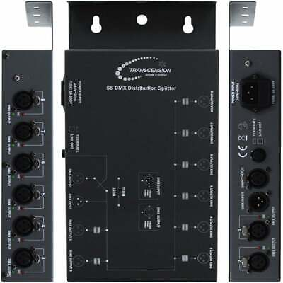 Transcention S8 DMX Distribution Splitter - 8 Way Insolated DMX Outputs