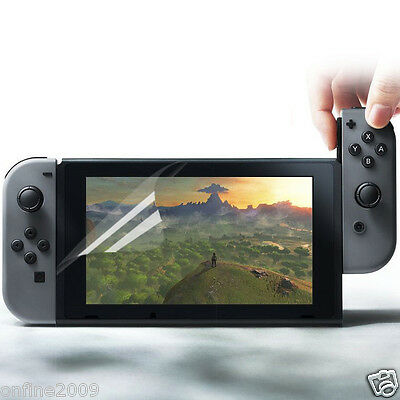 2 Pack Genuine Soft HD Clear LCD Screen Protectors For Nintendo Switch Clear