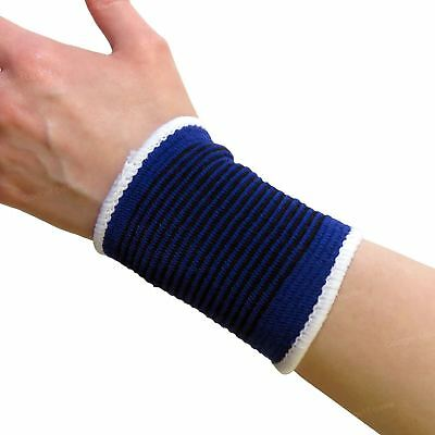 2 Elasticated Polyester Wrist Support Brace Pain Relief Arthritis Sprain Strain