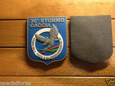 Patch Aeronautica 36° Stormo In 3D Gommato  9 X7,5