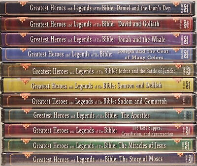 Greatest Heroes and Legends of the Bible Collection Set of 12 Brand NEW DVDs