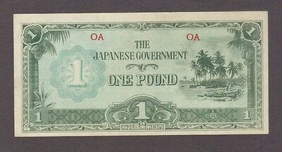 1 One Pound Oceania Japanese Invasion Money Currency Unc Banknote Bill Jim Wwii