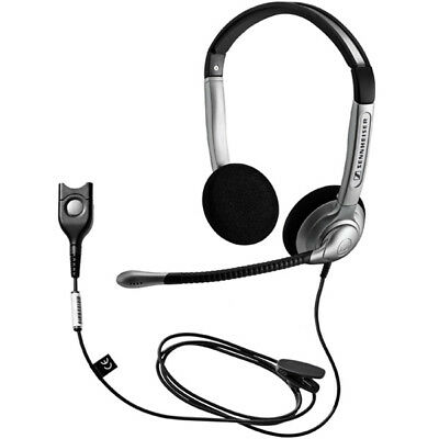 Sennheiser SH 350 Binaural Noise Canceling Mic Headset Quick Disconnect