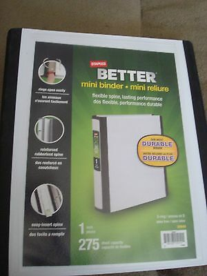 staples better mini binder white 1 inch d ring 12 00 picclick
