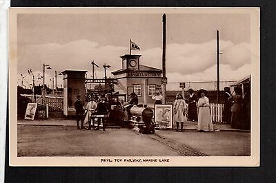 Rhyl - Toy Railway, Marine Lake - real photographic postcard