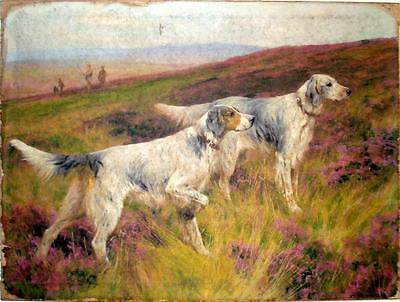 Wall Art Painting Print On Canvas Ready to Hang Hunting Dog Wardle Setters