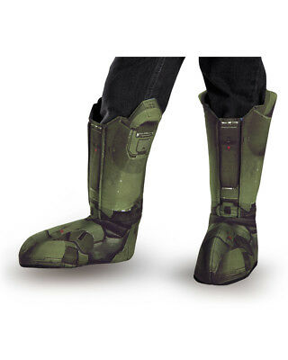 Adult Halo Master Chief Green Boot Covers Costume Accessory