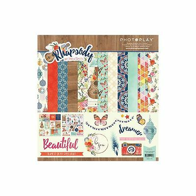 Photo Play Rhapsody 12X12 Collection Kit Pack Scrapbooking Paper Boho Dream