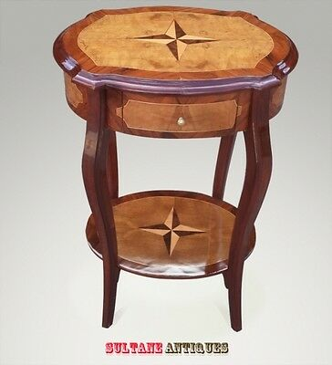 Superb walnut and maple Art Deco style side table