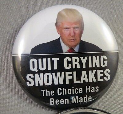 Wholesale Lot Of 22 Quit Crying Snowflakes The Choice Is Made Trump Buttons 45Th