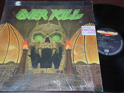 """OVERKILL - The Years Of Decay, LP 12"""" IMPORT 1989"""