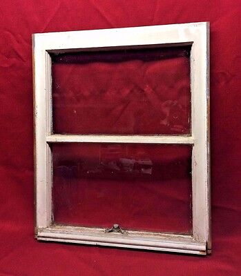 Old 2 Pane Wood Wooden Window Shabby Paint Architectural Salvage 23 x 19 1/4 #1