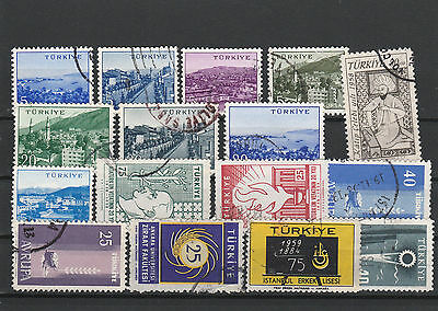 Turkey Mix canceled Postage Stamps Stamps Los Right 2570