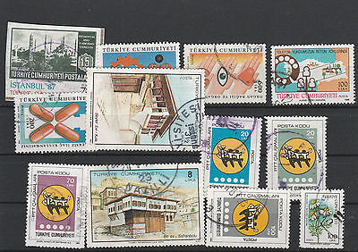 Turkey Mix canceled Postage Stamps Stamps Los Right 2594