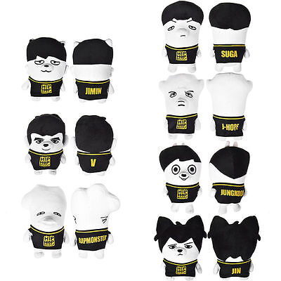 KPOP Bangtan Boys Plush Doll Hiphop Toy BTS Jung Kook Rap Monster Jimin Jin Suga