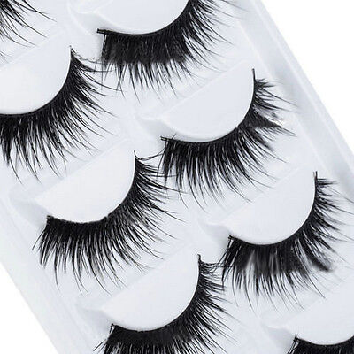 Makeup 5 Pairs Natural Thick False Eyelashes Long Handmade Eye Lashes Extension